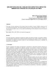 Uma Metodologia de Análise dos Aspectos e Impactos - IEM