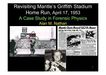 Revisiting Mantle's Griffith Stadium