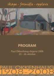 PROGRAM - Paul Okkenhaug