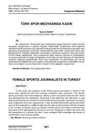 türk spor medyasında kadın female sports journalısts ın turkey