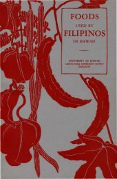 Foods Used by Filipinos in Hawaii - ScholarSpace - University of ...
