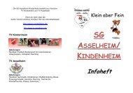 Saisonheft 2009 - SG Asselheim-Kindenheim