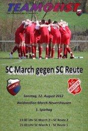 Sonntag, 12. August 2012 Waldstadion March ... - SC March