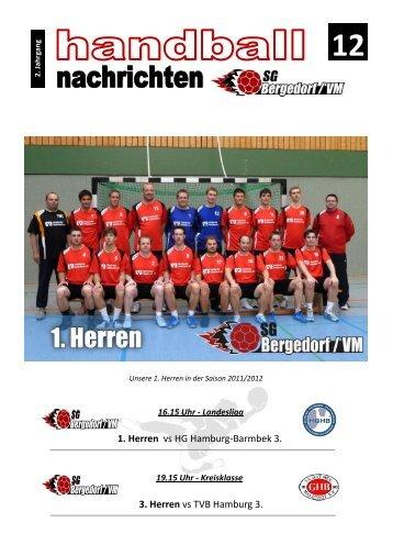 3. Herren vs TVB Hamburg 3. 1. Herren vs HG Hamburg-Barmbek 3.