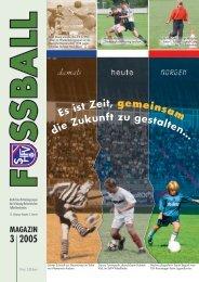 Ausgabe III / 2005 - Schleswig-Holsteinischer Fussballverband eV