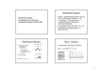 Elementare Signale I Sinus - Cosinus - Universität Bonn