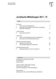 Juristische Mitteilungen 2011 / IV - Kanton St.Gallen