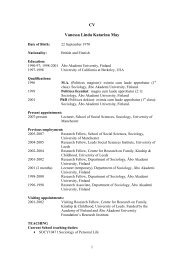 CV Vanessa Linda Katarina May - Svenska social