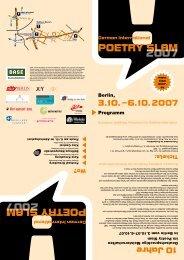 poetry slam 2007 poetry slam 2007 - Sebastian Krämer