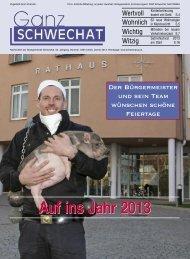 Auf ins Jahr 2013 - Stadtgemeinde Schwechat
