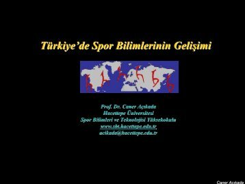 Türkiye'de Spor Bilimlerinin Gelişimi