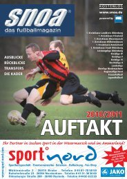 Auftakt 2010/2011 - SNOA - das fußballportal