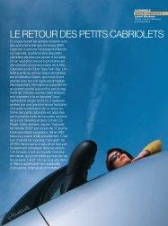 Les petits cabriolets - Magazine Sports et Loisirs