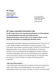 HV SPTrogen 09 ADL - SP Appenzell Ausserrhoden