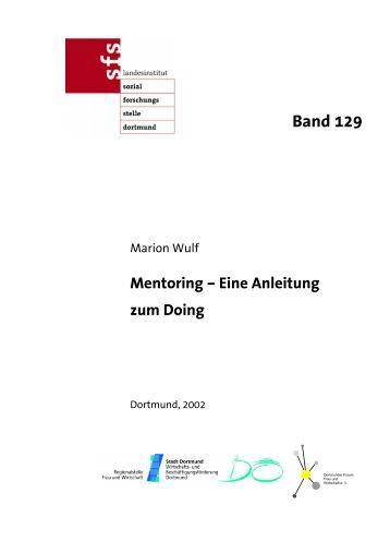 Mentoring - Eine Anleitung zum Doing - Sozialforschungsstelle ...
