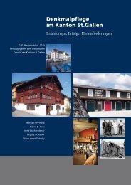 Denkmalpflegerischer Umgang mit ... - Kanton St.Gallen