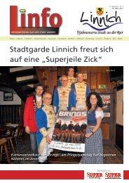"""Stadtgarde Linnich freut sich auf eine """"Superjeile Zick"""" - Stadt Linnich"""