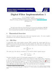 Digital Filter Implementation 1 - Signal Processing and Speech ...
