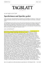 Sportlerinnen und Sportler geehrt