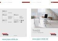 ASSMANN Büromöbel Prospekt TriASS ... - Pape+Rohde