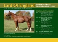 Lord Of England - Thoroughbred Stallion Guide