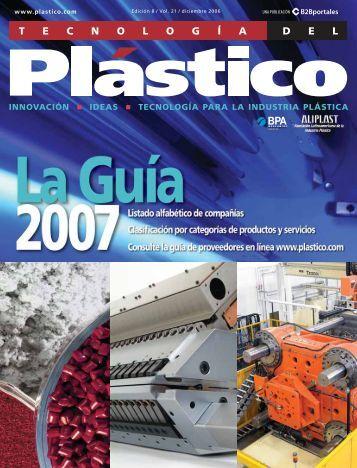 Equipo auxiliar, componentes y suministros - Plastico