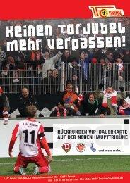 Keinen Torjubel mehr verpassen! - 1. FC Union Berlin