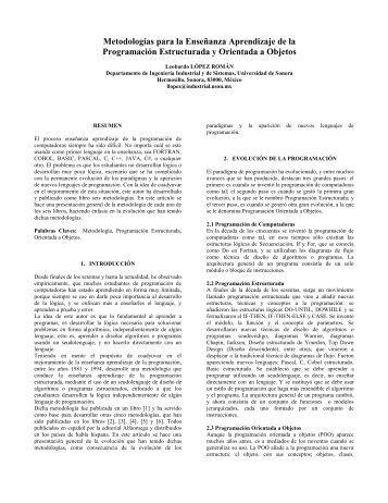 Metodologías para la Enseñanza Aprendizaje de la Programación