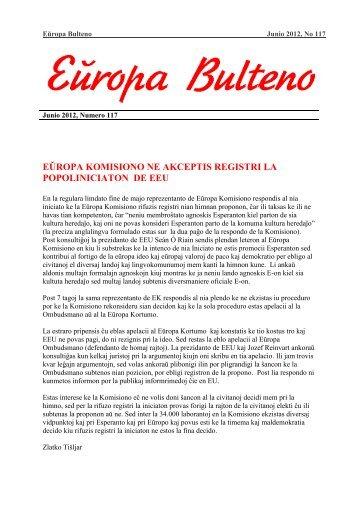 Junio 2012 - Eŭropa Esperanto-Unio