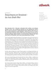 Download der Pressemitteilung als PDF - Stilwerk