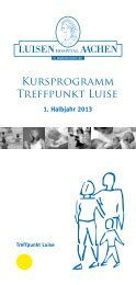 Kursprogramm Treffpunkt Luise - Luisenhospital