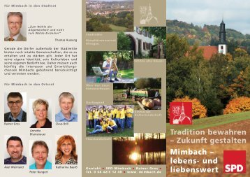Tradition bewahren – Zukunft gestalten Mimbach – lebens- und ...
