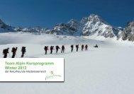 Team Alpin Programm Winter 12/13 - Naturfreunde Niederösterreich