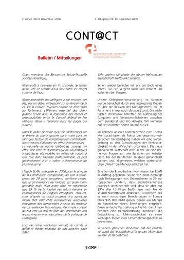 Layout 8 Contact NHG _NEU_ - Rencontres Suisses - Nouvelle ...
