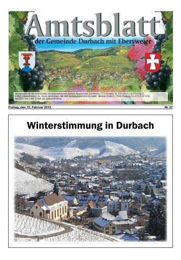Winterstimmung in Durbach