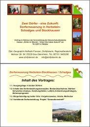 Dorferneuerung In Herbstein - Naturschutz-Akademie Hessen