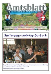 Seniorennachmittag Durbach