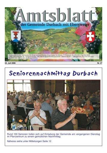 Seniorennachmittag Durbach