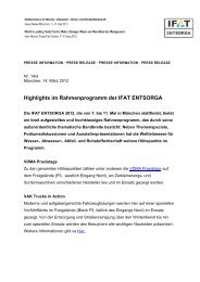 Highlights im Rahmenprogramm der IFAT ENTSORGA - fairmessage