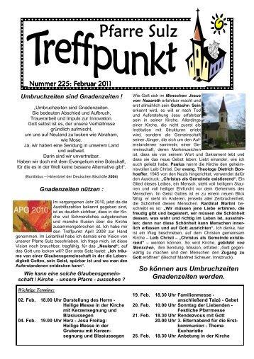 TREFFPUNKT - FEBRUAR 2011 - Pfarre Sulz im Wienerwald