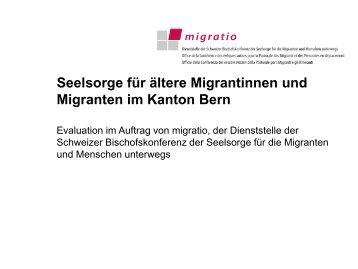 Seelsorge für ältere Migrantinnen und Migranten ... - Alter & Migration
