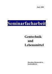 der Seminararbeit: Gentechnik und Lebensmittel