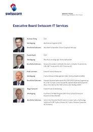 Geschäftsleitung Swisscom IT Services