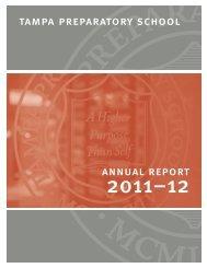 2011-2012 Annual Report - Tampa Preparatory School