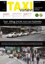 Alltag (nicht nur) am KaDeWe - Taxi Vorfahrt