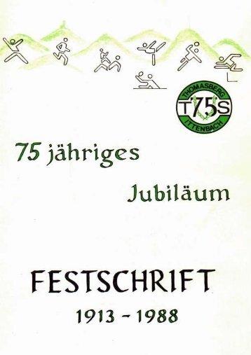 75jähriges Jubiläum TUS Thomasberg-Ittenbach - virtuellen ...