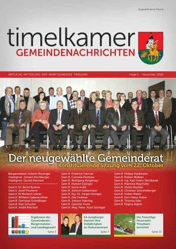 Der neugewählte Gemeinderat - Timelkam