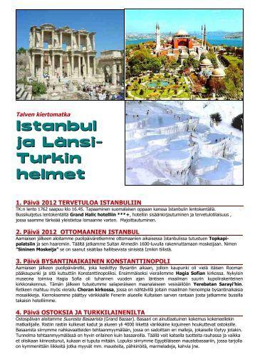 Istanbul ja Länsi-Turkin helmet_MATKAOHJELMA