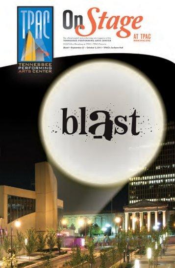 Blast! • September 27 – October 2, 2011 • TPAC's Jackson Hall
