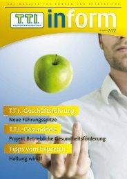 TTI Inform Ausgabe 01/2012 - TTI Personaldienstleistung GmbH